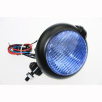 LAMPU TEMBAK BULAT ONS 189 BLACK BLUE GLASS